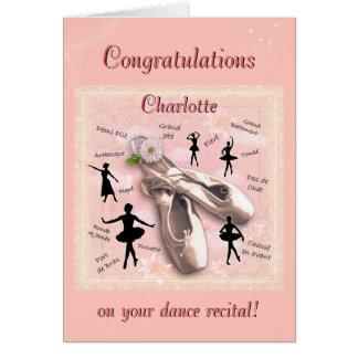 Glückwünsche auf Ihrem Tanz-Erwägungsgrund Grußkarte
