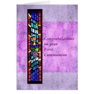 Glückwünsche auf Ihrer 1. Kommunion kundengerecht Karte
