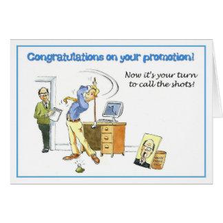 Glückwünsche auf Ihrer Förderung Grußkarte