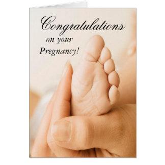 Glückwünsche auf Ihrer Schwangerschafts-Karte Grußkarte