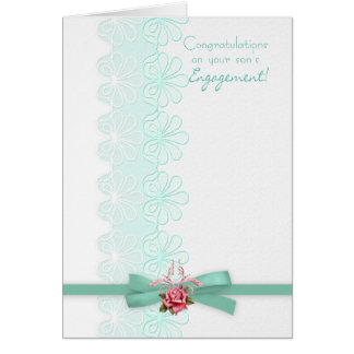 Glückwünsche auf Spitze die Verlobung Ihres Sohns Karte