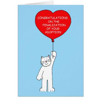 Glückwünsche auf Vollendung Ihrer Annahme Grußkarte