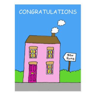 Glückwünsche auf zusammen einziehen, neues Haus Postkarte