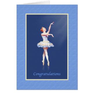 Glückwünsche, Erwägungsgrund, Ballerina auf Pointe Karte
