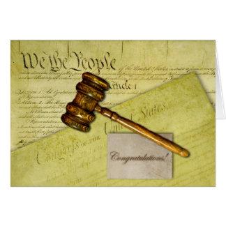 Glückwünsche für Rechtsanwalt, Richter oder Karte