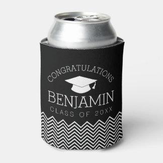 Glückwünsche graduieren Abschluss-Kappe EDIT-FARBE Dosenkühler