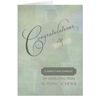 Glückwünsche graduieren Krankenpflege-Grad mit Karte