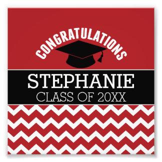 Glückwünsche graduieren - roten schwarzen photodrucke