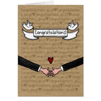 Glückwünsche - homosexuelle Hochzeits-Paare Grußkarten