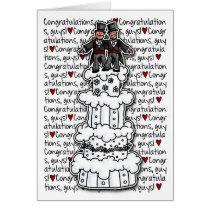 Glückwünsche - homosexuelle Hochzeits-Paare Grußkarte
