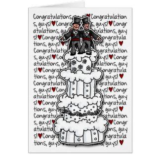 Glückwünsche - homosexuelle Hochzeits-Paare Karte