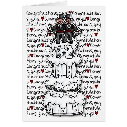 Glückwünsche - homosexuelle Hochzeits-Paare Karten