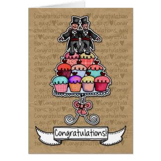 Glückwünsche - homosexuelle Hochzeits-Paarkleine Grußkarte