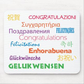Glückwünsche in vielen Sprachen ColorfulMousepad Mousepad