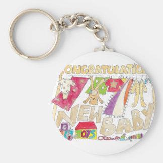 Glückwünsche - neues Baby Schlüsselanhänger