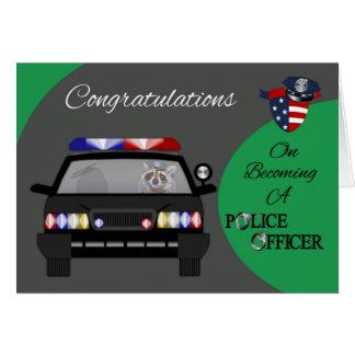 Glückwünsche, Polizeibeamte-Gruß-Karte Karte