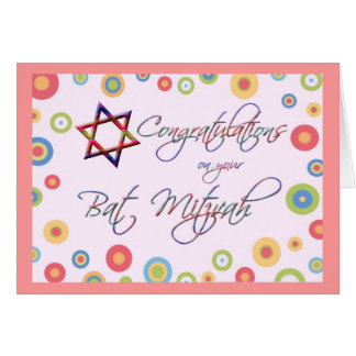 Glückwünsche/Schläger Mitzvah-Bunt und Spaß Karte