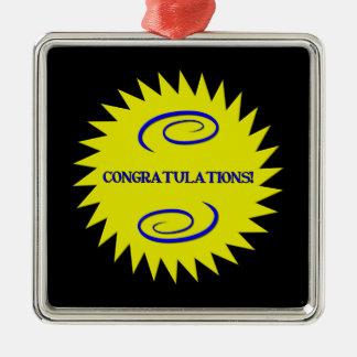 Glückwünsche Silbernes Ornament