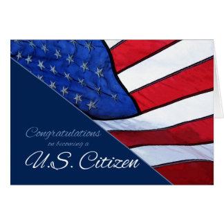 Glückwünsche US-Staatsbürgerschaft US-Flaggen-Kart