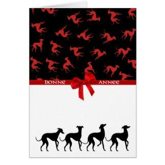 Glückwunschkarte kleine italienische Windhunde Karte