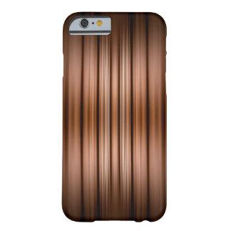 Glühen braune und schwarze Streifen Barely There iPhone 6 Hülle