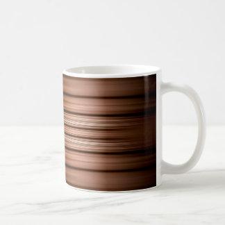 Glühen braune und schwarze Streifen Kaffeetasse