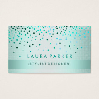 Glühen-Glitter-Goldconfetti-Leinen elegant Visitenkarte
