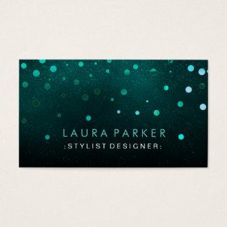 Glühen-Glitter-GrünConfetti elegant Visitenkarte