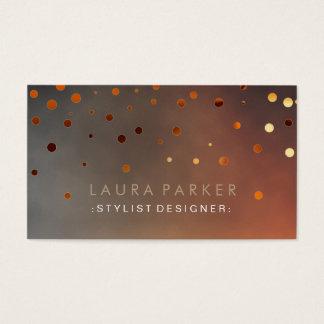 Glühen-Glitter-Sonnenuntergangconfetti-elegante Visitenkarte