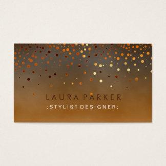 Glühen-Glitterorange Confetti-eleganter Himmel Visitenkarte