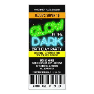 Glühen im dunklen SuperParty 16 10,2 X 23,5 Cm Einladungskarte