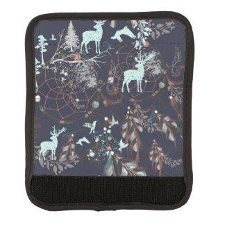 Glühen in dunkles Natur boho Stammes- Muster Gepäckgriff Marker
