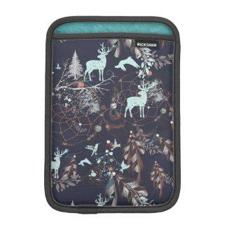 Glühen in dunkles Natur boho Stammes- Muster iPad Mini Sleeve