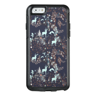 Glühen in dunkles Natur boho Stammes- Muster OtterBox iPhone 6/6s Hülle