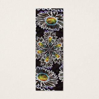 Glühen-Kaleidoskop des Gänseblümchen-1, Mini Visitenkarte