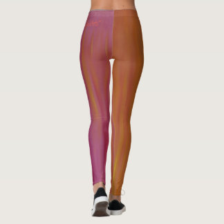 Glühen orange und rosa Acrylgamaschen Leggings
