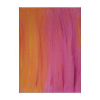 Glühen orange und rosa Acrylmalerei Leinwanddruck