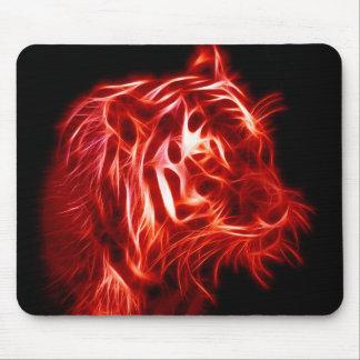 Glühen roter und schwarzer Tiger schön Mousepad