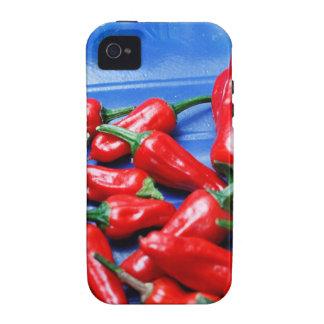Glühend und Blau: Paprika-Paprikaschoten Vibe iPhone 4 Case