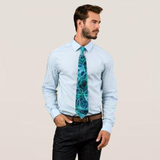 Glühende Aquamarine zerstreute Paillette Krawatte