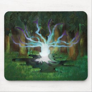 Glühende Baum-Mausunterlage Mauspad