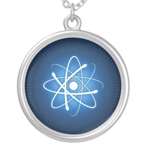 Glühende blaue Atom-Halskette