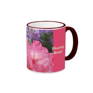 Glühende Braut! Blumenkaffeetasse-Blumen-Empfang Ringer Tasse