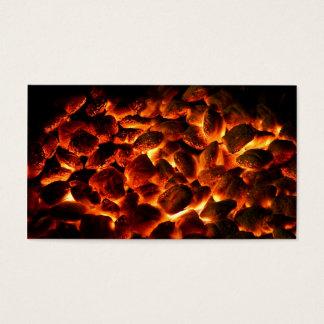 Glühende brennende Kohlen Visitenkarte