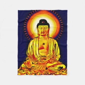 Glühende Buddha-Spritzpistolen-Kunst-Fleece-Decke Fleecedecke