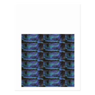 GLÜHENDE elegante blaue Kristalldekorationen Postkarte