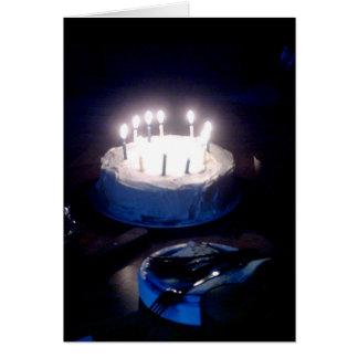 Glühende Geburtstags-Kuchen-Karte Karte