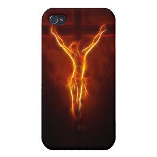 Glühende Jesus-Kreuzigung iPhone 4/4S Hülle