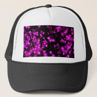 Glühende rosa Blumen-Lichter Trucker Cap