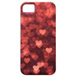 glühende rote Herzen iPhone 5 Schutzhülle
